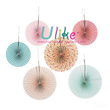 Vintage Collection Hanging Fans wedding decoration materials