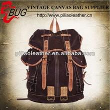 2014 Trendy designer vintage cotton canvas backpack /school bag
