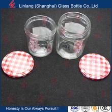 best price Transparent storage jar honey airtight jar glass bottle 155g with six arrises food pickles