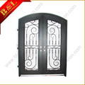 Ferro forjado Portas de Entrada Dupla rústica personalizada