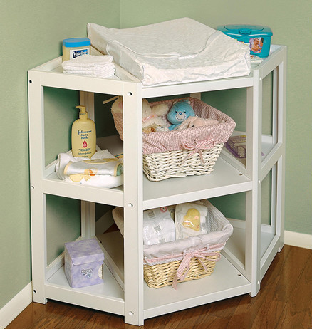Canvas storage with Baby changing table furniture