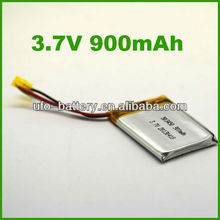 3.7v 900mAh Li-ion battery with PCM