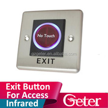 Free Shipping by DHL ,Infrared exit button,hand symbols ,NO/NC/COM output, blue back light electric box cassette,