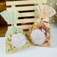 Parts Of Clear Plastic Quad Seal Colorful Candy Bag