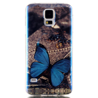 Customed IMD Blue Light TPU Fancy Cell Phone Cover Case For Samsung Galaxy S5