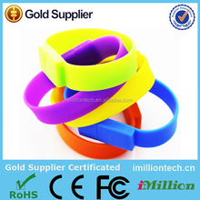 New style PVC wristband bracelet usb pendrive for promotional business gifts