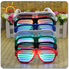 hot sale party decor Led Sound Activated shutter shade sunglasses
