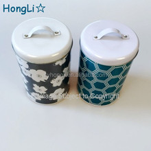 Metal Tin Cracker Biscuit Cookie Dessert Pastry Snack Cake Candy Mint Food Storage Box Cans