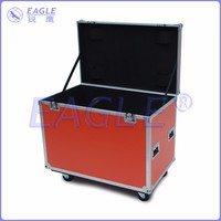 2015 hot sale customized cable case flight case with brake wheels 1000*500*500mm