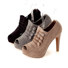 New 2015 fabric women shoes high heels
