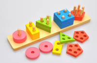 Wooden Stack and Sort Board Toy