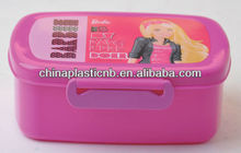 food grade plastic kids lunch box with lock plastic food container