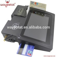 Terminal de POS tableta con impresora de tarjetas NFC de Magcard inteligente de código de barras 2D GPS WCDMA WiFi Bluetooth Android 4.0.3 OS