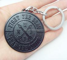 The Walking Dead Fight The Dead Metal Logo Keychain Key Ring