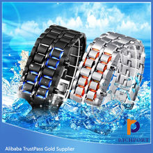 Hot sale LED Watch, wrist watch thin touch screen LED metal watch