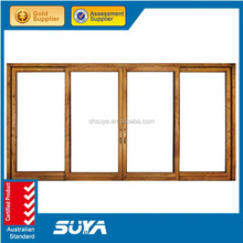 Office sliding glass door modern pattern designed wooden sliding doors design