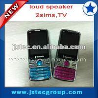 2013 hot cheap china quad band 2 sim TV cell phone Q9