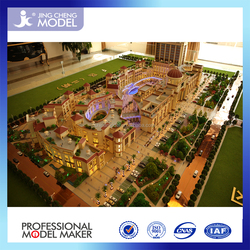 Physical model, real estate shopping mall model/architectural model with beach,landscape,housing,lighting