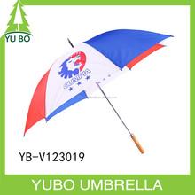 Cheap wholesale manual open straight umbrella with custom logo printing