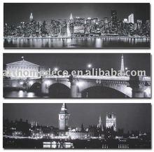 Giclee Print Canvas Art - New York Paris London Landscape