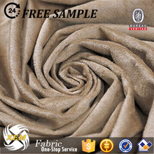 Artificial suede for winter jacket/synthetic suede fabric/mens suede winter jacket with wool