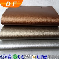 metal artificial leather for lichee design leather pvc leather for bag