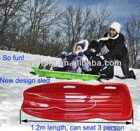 1.2mL PLASTIC luge SNOW SLEDGE TOBOGGAN for winter,grass slide sledge,plastic snow sledge snow glider