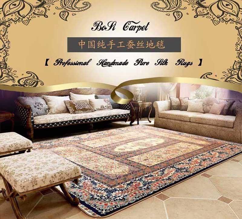 Hohe Dichte, handgemachte Seide auf Seide Teppich, Qum