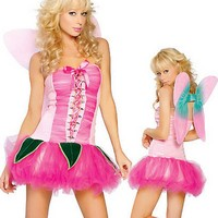 WS0014 Big flower handmade costume wholesale fairy wings girl tutu dress halloween costume