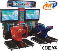 GP4 double motor simulator racing game machine