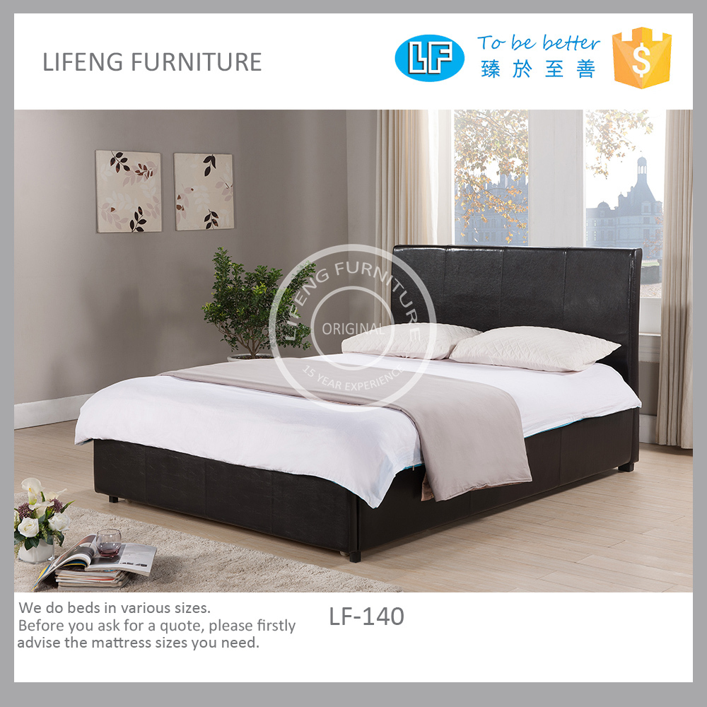 upholstery PU leather BED with drawer, LF140 1000 x 1000