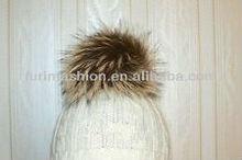 Custom Fox Fur Pom Pom Hat