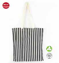 Cotton Material and Handled Style Zebra Pattern Shopping Bag Promotion