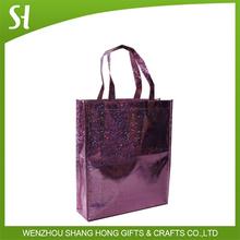 glitter noble shinning royal purple shopping bag