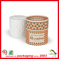 Wholesale candle packing custom luxury paper tube with eva for candle