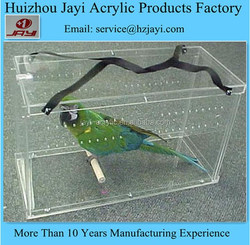JYDB-020China supplier wholesale acrylic large animal cage/parrot cage/parrot cage for sale