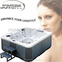 Outdoor 6 people acrylic whirlpool free standing balboa bathtub hot tubs spas bath tub