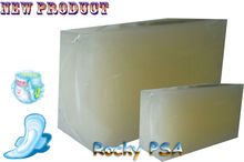 Hot melt pressure sensitive adhesive for hygiene products