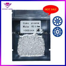 2mm blanco Cubic Zirconia En Stock forma redonda artificial Diamante CZ