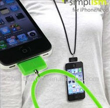 funny sling silicone data rope for iphone5 5s