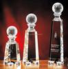 2015 nice design sports crystal golf ball award trophy