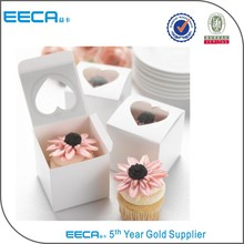 Cupcake Favor Boxes with Heart Shape Windows/Band Candle Box in China