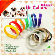 """Set of 12 """"Curved Ends"""" welcro one-wrap Puppy Identification Litter Bands"""