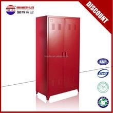 powder coating steel ski lockers with supporting legs / red steel locker