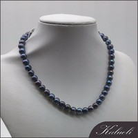 8-9mm near round peacock genuine freshwater pearl necklace price
