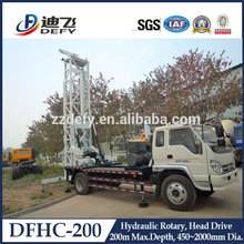 200m unique design truck mounted hydraulic water well drilling rig