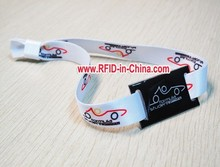 FCC Certificated RFID Fabric Wristbands for Events, Custom Fabric Event Woven Wristbands by DAILY RFID