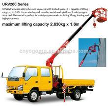 fuwukara UNIC hydraulic truck crane/ stiff boom truck crane/