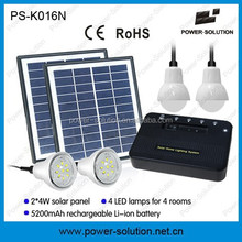 Top selling 8W solar panel kit with 4LED lights and phone charger for africa