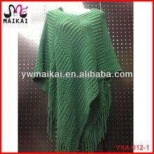 Wholesale alibaba winter hot fashion women poncho shawl